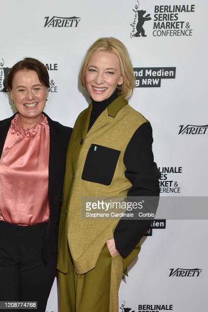 Elise McCredie and Cate Blanchett pose at the Stateless photo call during the 70th Berlinale International Film Festival Berlin at Zoo Palast on...