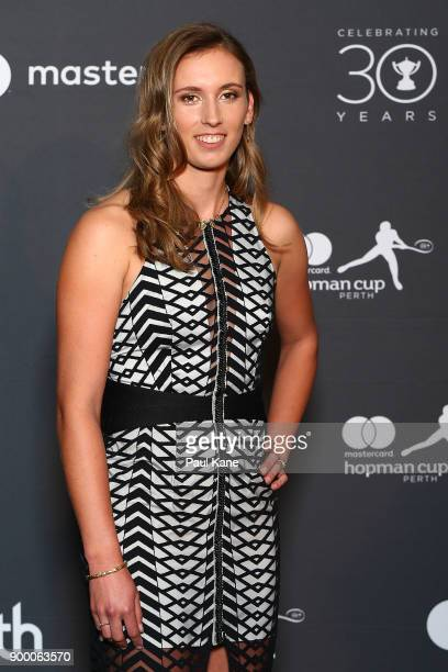 Elise Mertens of Belgium arrives at the 2018 Hopman Cup New Years Eve Ball at Crown Perth on December 31 2017 in Perth Australia
