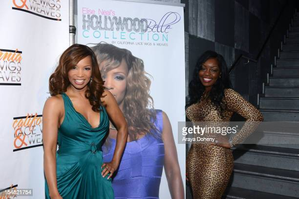 Elise Neal and Annette Jones attend the Elise Neal's Hollywood Belle Collection by California Lace Wigs and Weaves hair line launch at Confidential...