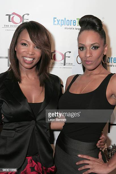 Elise Neal and Melyssa Ford arrive at Boulevard3 on April 6 2010 in Hollywood California