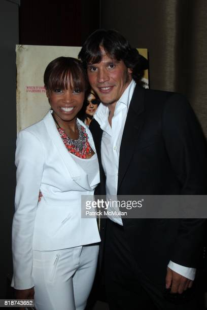 Elise Neal and Sergio PerisMencheta attend E1 Entertainment Presents the New York Premiere of LOVE RANCH at Dolby Screening Room on June 29 2010 in...