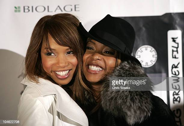 Elise Neal and Taraji Henson during 2005 Park City 'Hustle and Flow' Party at The Premiere Lounge in Park City Utah United States