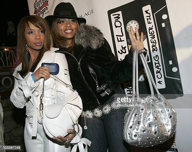 Elise Neal and Taraji P Henson during 2005 Sundance Film Festival 'Hustle and Flow' After Party at Premiere Lounge in Park City Utah United States