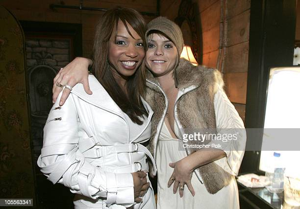 Elise Neal and Taryn Manning during 2005 Sundance Film Festival 'Hustle and Flow' After Party at Premiere Lounge in Park City Utah United States