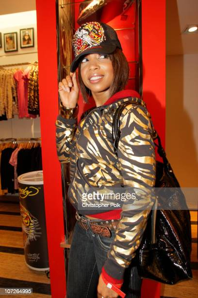 Elise Neal at the Ed Hardy Store Opening on December 1 2007 in Los Angeles California
