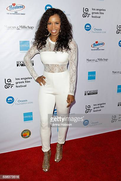 Elise Neal attends the premiere of 'Worlds Apart' at the Egyptian Theatre on June 5 2016 in Hollywood California