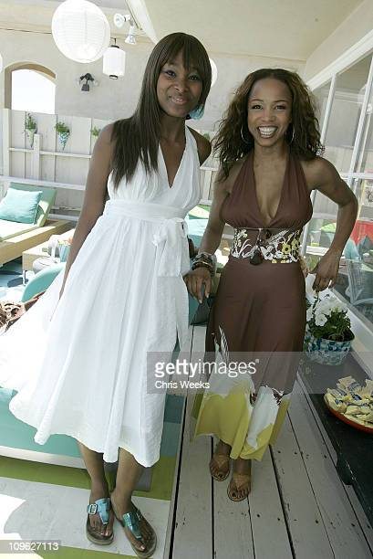 Elise Neal during Lorena's Summer Bash at Private Residence in Malibu California United States