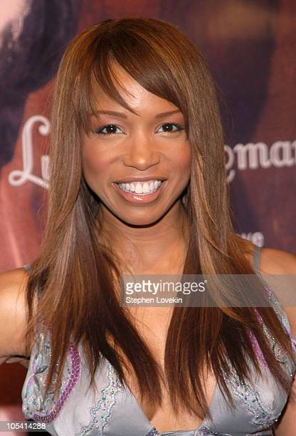 Elise Neal during Olympus Fashion Week Fall 2005 Luxe Romance Front Row at The Altman Building in New York City New York United States