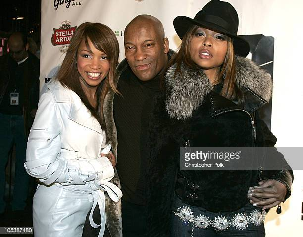 Elise Neal John Singleton and Taraji P Henson during 2005 Sundance Film Festival 'Hustle and Flow' After Party at Premiere Lounge in Park City Utah...