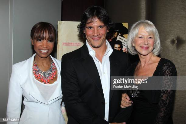 Elise Neal Sergio PerisMencheta and Helen Mirren attend E1 Entertainment Presents the New York Premiere of LOVE RANCH at Dolby Screening Room on June...