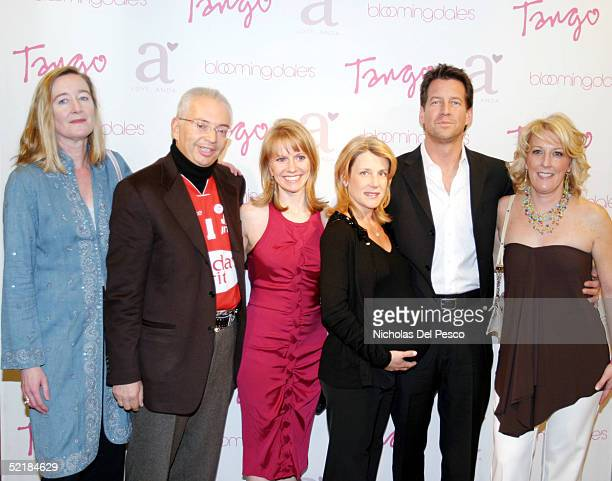 Elise O'Shaughnessy, Henri Zimand, Andrea Miller, Erin O'Brien, James Denton, and Ellen Abramowitz arrive at the Tango Magazine launch party held at...