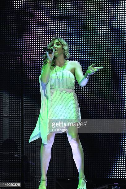 Elise Testone performs as part of the American Idols Live Tour presented by Chips Ahoy and Ritz at Power Balance Pavilion on July 21 2012 in...