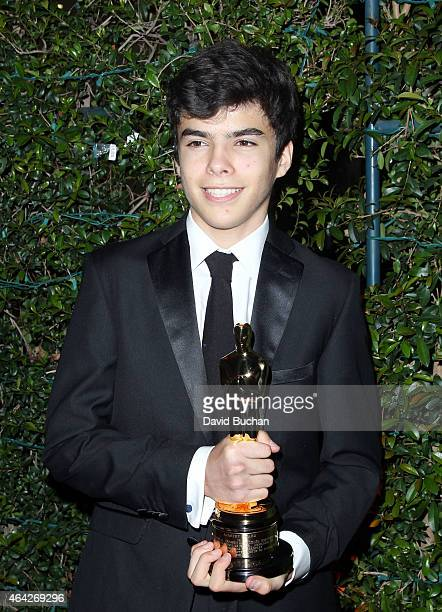 Eliseo Inarritu attends the 21st Century Fox and Fox Searchlight Oscar Party at BOA Steakhouse on February 22 2015 in West Hollywood California