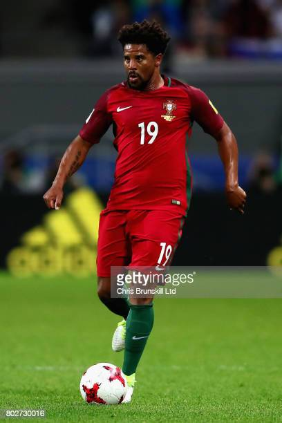Eliseu of Portugal in action during the FIFA Confederations Cup Russia 2017 SemiFinal between Portugal and Chile at Kazan Arena on June 28 2017 in...