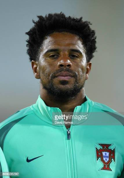 Eliseu of Portugal looks on prior to the FIFA 2018 World Cup Qualifier between Andorra and Portugal at the Estadi Nacional on October 7 2017 in...