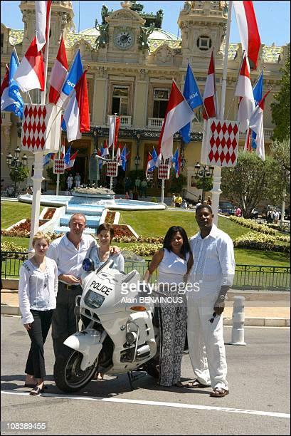 Elisha Curthbert, Haysbert Dennis, Sarah Clarke, Howard Gordon, Penny Johnson in Monaco on July 02, 2003
