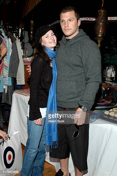 Elisha Cuthbert and Sean Avery of the Los Angeles Kings at Ben Sherman during the GRAMMY Style Studio