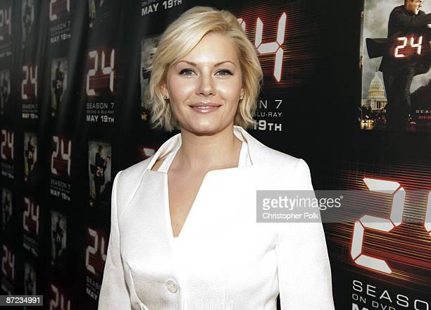 Elisha Cuthbert arrives to a special screening and panel discussion celebrating the Season 7 Finale of 24 at Wadsworth Theater in Los Angeles CA on...