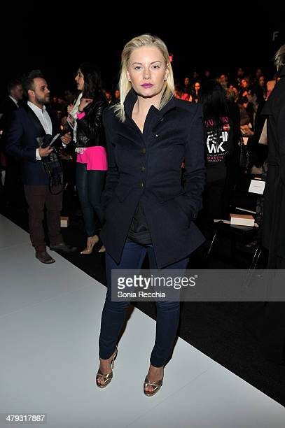 Elisha Cuthbert attends World MasterCard Fashion Week featuring PANDORA Jewellery In Toronto Day 1 at David Pecaut Square on March 17 2014 in Toronto...