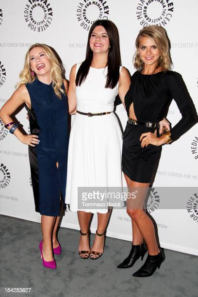 Elisha Cuthbert Casey Wilson and liza Coupe attend the Paley Center for Media presents an evening with Happy Endings And Don't Trust The B In...