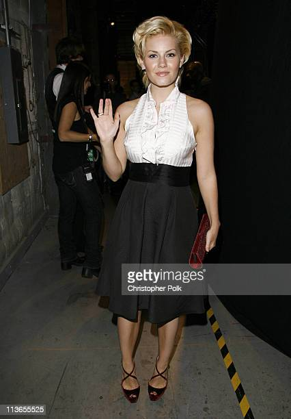 Elisha Cuthbert during First Annual Spike TV's Guys Choice - Backstage and Audience at Radford Studios in Los Angeles, California, United States.