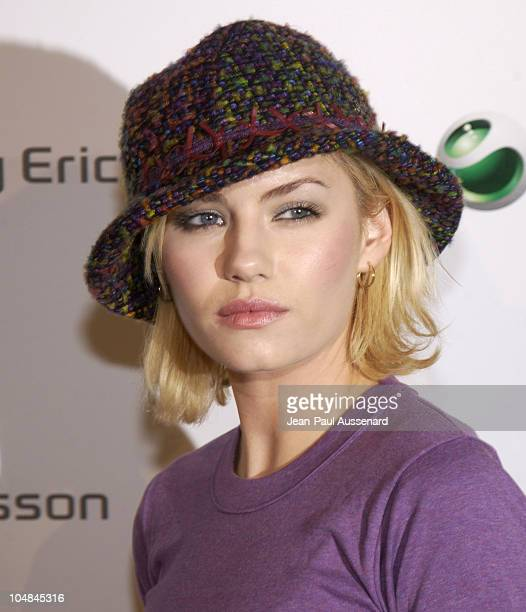 Elisha Cuthbert during Sony Ericsson's Hollywood Premiere Party 2003 at The Palace in Hollywood California United States