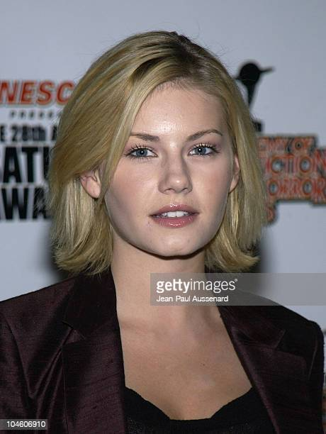 Elisha Cuthbert during The 28th Annual Saturn Awards Arrivals at St Regis Hotel in Century City California United States
