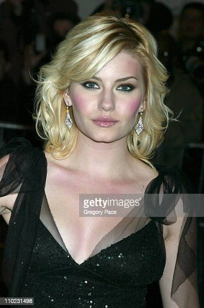 Elisha Cuthbert during The Costume Institute's Gala Celebrating Chanel Arrivals at The Metropolitan Museum of Art in New York City New York United...