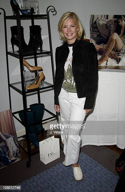 Elisha Cuthbert with Charles David shoes during The Cabana Beauty Buffet Day 1 at The Chateau Marmont Hotel in Los Angeles California United States