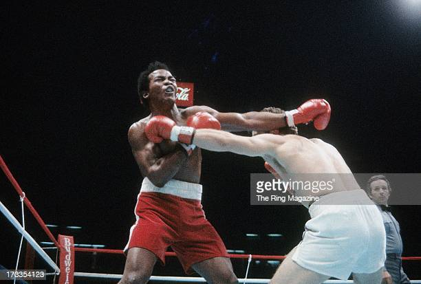 Elisha Obed throws a punch against Bobby Czyz during the fight at Meadowlands Arena in East Rutherford, New Jersey. Bobby Czyz won by a DQ 6.