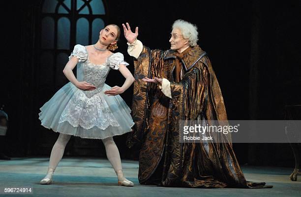 Elisha Willis as Swanilda and David Morse as Dr. Coppelius in the Birmingham Royal Ballet production of Coppelia at the Birmingham Hippodrome.