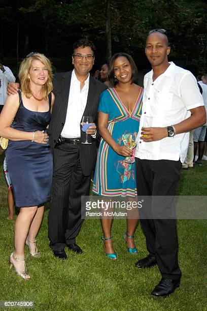Elisibeth Kahn Yassin Kahn Attica Jake and Gilbert Kermit attend The Rush Philanthropic ART FOR LIFE Party hosted by Don and Katrina Peebles at The...