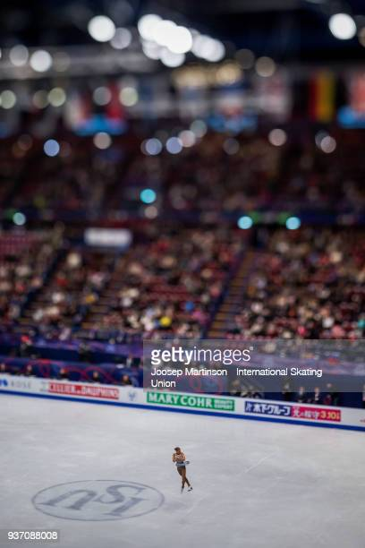 Eliska Brezinova of Czech Republic competes in the Ladies Free Skating during day two of the World Figure Skating Championships at Mediolanum Forum...