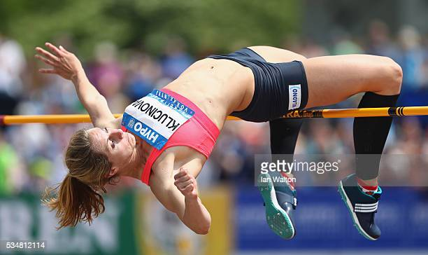 Eliska Klucinova in action in the Women's Heptathlon high jump during the Hypomeeting Gotzis 2016 at the Mosle Stadiom on May 28 2016 in Gotzis...