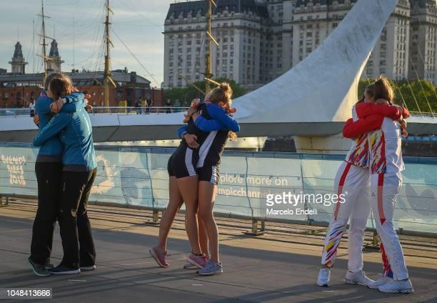Eliska Podrazilova and Anna Santruckova of Czech Republic Christina Bourmpou and Maria Kyridou of Greece and Alina Maria Baletchi and Tabita Maftei...
