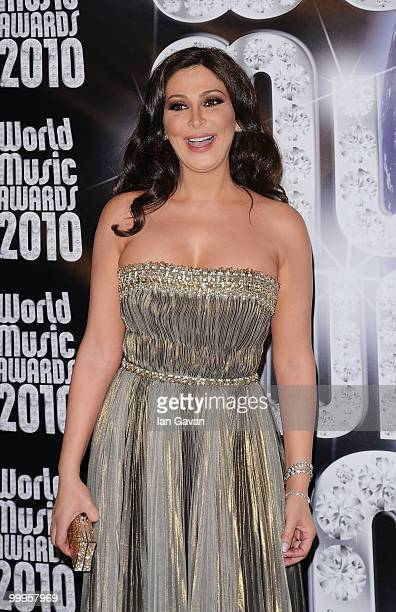 Elissa attends the World Music Awards 2010 at the Sporting Club on May 18 2010 in Monte Carlo Monaco