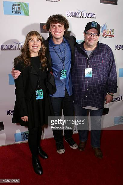 Elissa Leeds Laguna Film Festival Director Austin Fickman and Andy Fickman at the 1st Annual Laguna Film Festival Day 1 on October 16 2015 in Laguna...