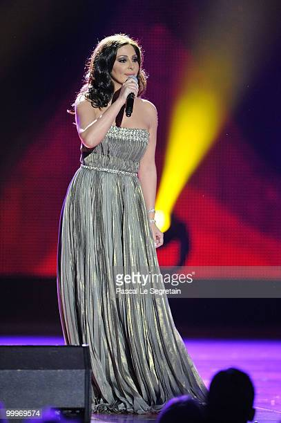 Elissa performs onstage during the World Music Awards 2010 at the Sporting Club on May 18 2010 in Monte Carlo Monaco