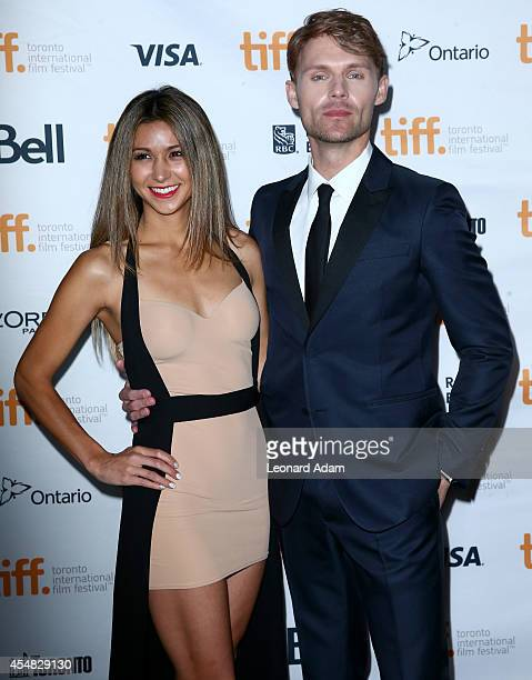 Elissa Shay and actor Scott Haze attend the The Sound And The Fury Premiere during the 2014 Toronto International Film Festival at Ryerson Theatre on...
