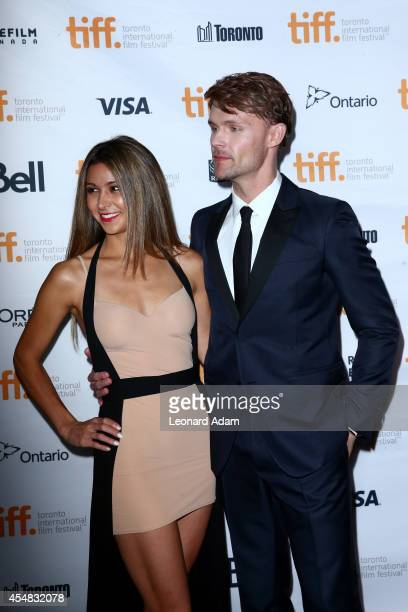 Elissa Shay and actor Scott Haze attends the The Sound And The Fury Premiere during the 2014 Toronto International Film Festival at Ryerson Theatre...