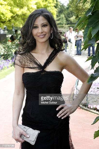Elissar Khoury attends the Christian Dior Fashion show during Paris Fashion Week FallWinter 2006/07 at Polo de Paris on July 5 2006 in Paris France