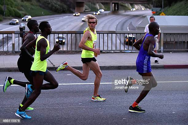 Elite Athlete Ryan Hall on course during the 2015 ASICS LA Marathon on March 15 2015 in Los Angeles California