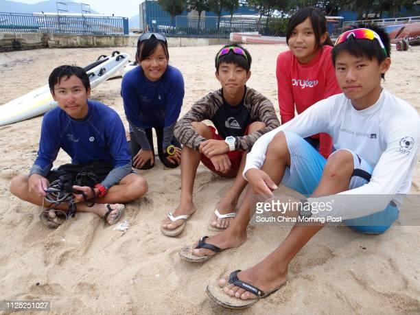 Elite Junior Windsurfers Terence Li Charlie Ngai Eric Man Roxy Hui And Adrian Lee 29OCT11