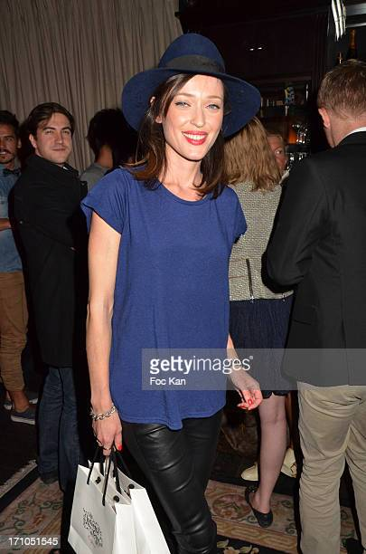 Elite model/singer Gaelle Pietri attends the 'Come' Show Case and Launch Party at the Tres Honore Bar on June 20 2013 in Paris France