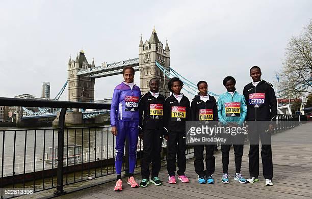 Elite women competitors Aselefech Mergia of Ethiopia Florence Kiplagat of Kenya Tigist Tufa of Ethiopia Mare Dibaba of Ethiopia Mary Keitany of Kenya...