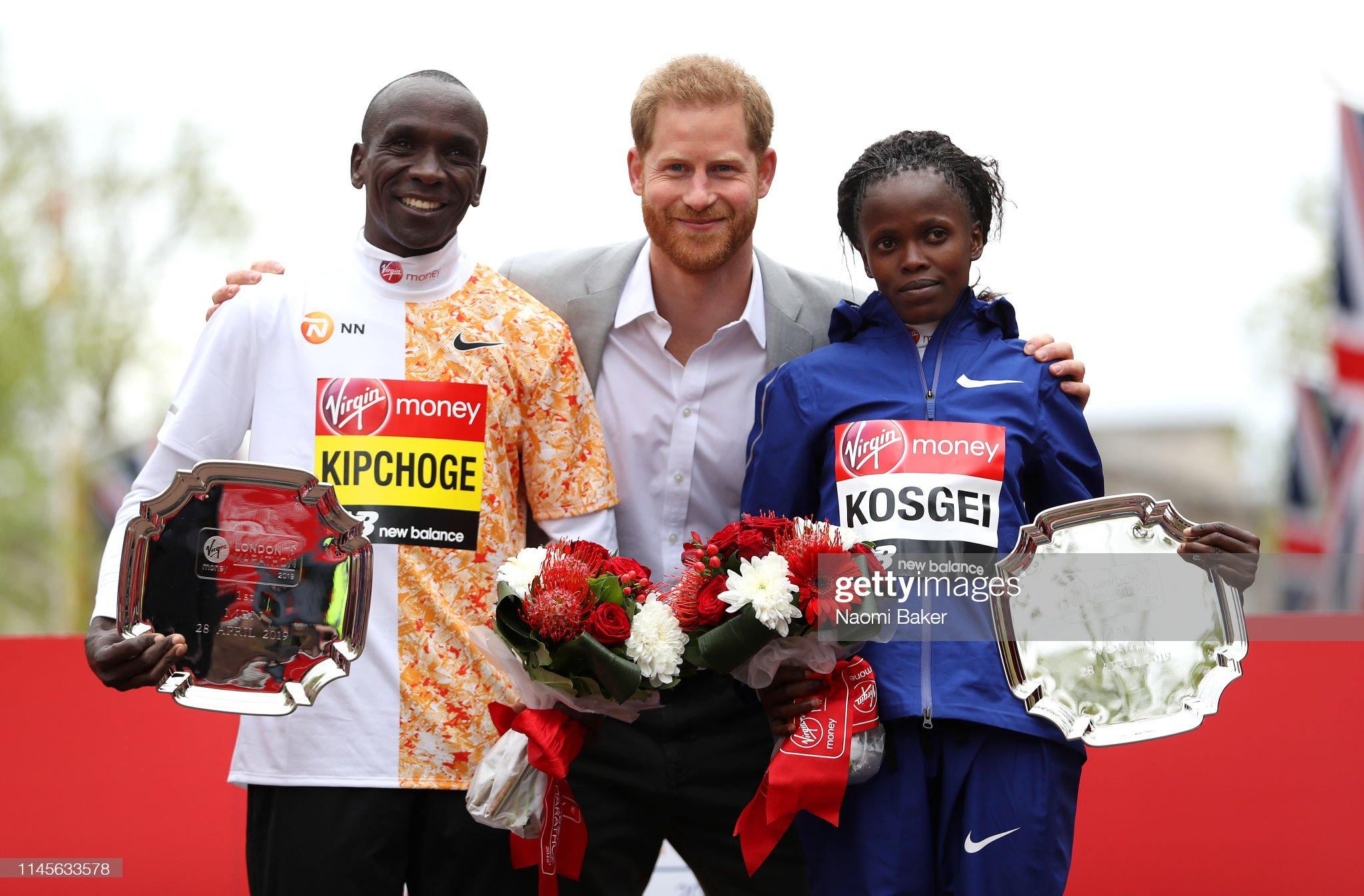 Элиуд Кипчоге и Бриджит Косгей - победители 39-го Лондонского марафона