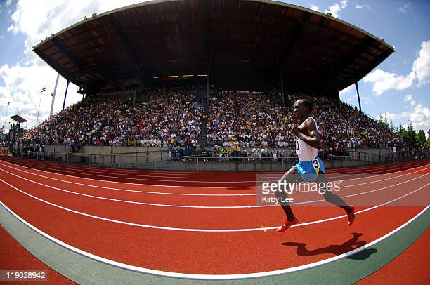 Eliude Kipchoge won the men's two miles in 80768 in the 31st Prefontaine Classic at the University of Oregon's Hayward Field in Eugene Ore on...