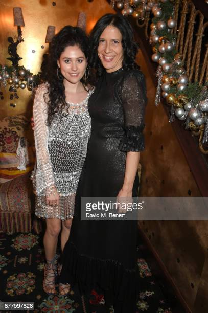 Eliza and Alex Adamson attend the Nick Cave The Bad Seeds x The Vampires Wife x Matchesfashioncom party at Loulou's on November 22 2017 in London...