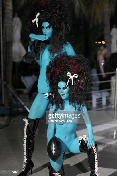 Eliza and Kembra Pfahler attend Playboy presents the NUDE IS MUSE An Art Salon for Art Basel Miami 2010 at The Standard Hotel on December 4 2010 in...