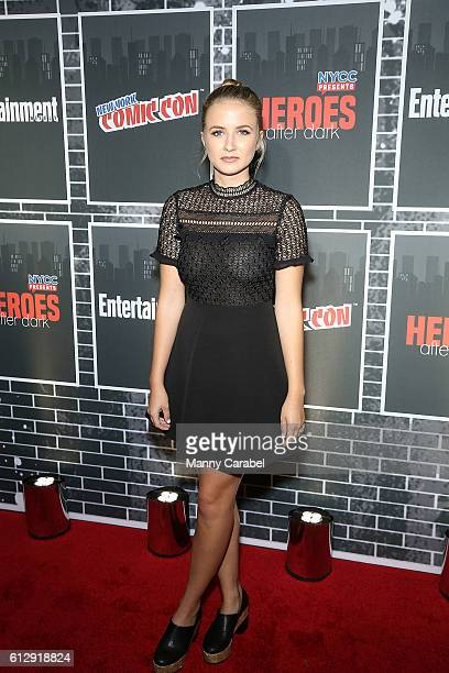 Eliza Bennett attends the Heroes After Dark New York Comic Con Kick-Off Red Carpet Celebration at Highline Ballroom on October 5, 2016 in New York...